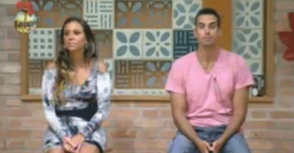 Angelis e Rodrigo Carril aguardam o resultado da roça