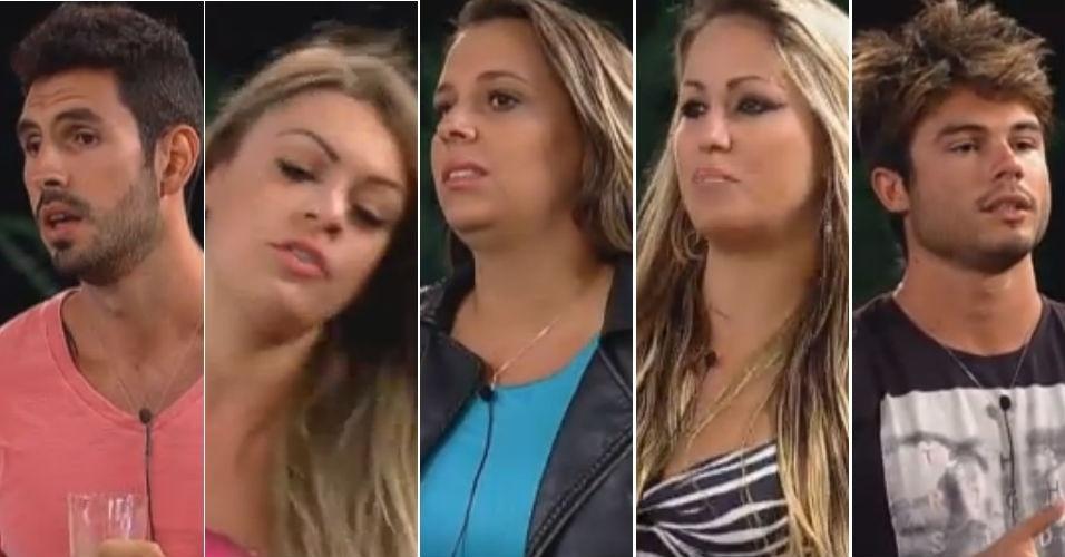 Os cinco finalistas da