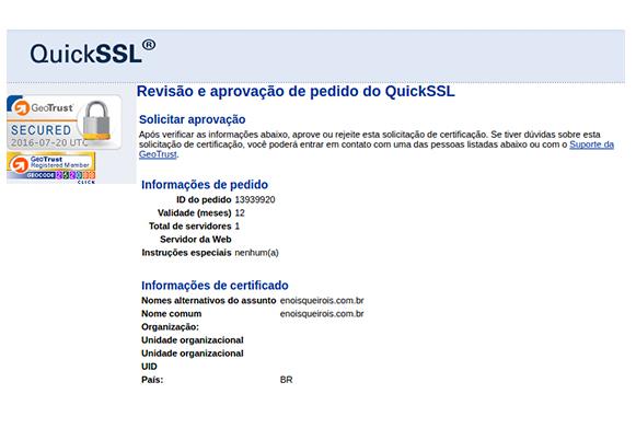 Certificado Digital SSL - Validação de Domínio - Painel UOL Host