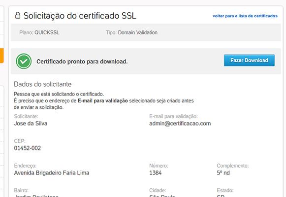 Certificado Digital SSL - Ativação e Download de Certificado - Painel UOL Host