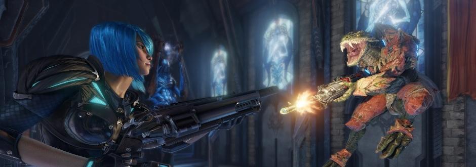 Quake Champions terá beta fechado e 1ª personagem revelada é Nyx