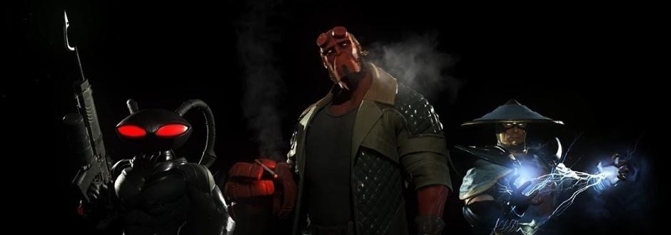 Próximos personagens de Injustice 2 serão Arraia Negra, Raiden e Hellboy