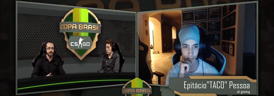 Copa Brasil CSGO: Entrevista com Epitácio TACO de Melo da SK Gaming