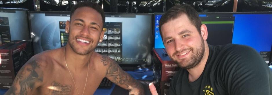 Neymar fala sobre jogar Counter-Strike: 'Tô subindo de nível'