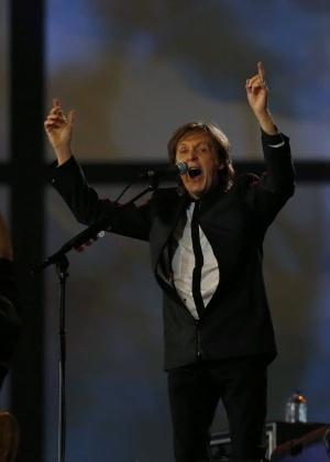 Paul McCartney durante apresentação na abertura dos Jogos Olímipicos de Londres