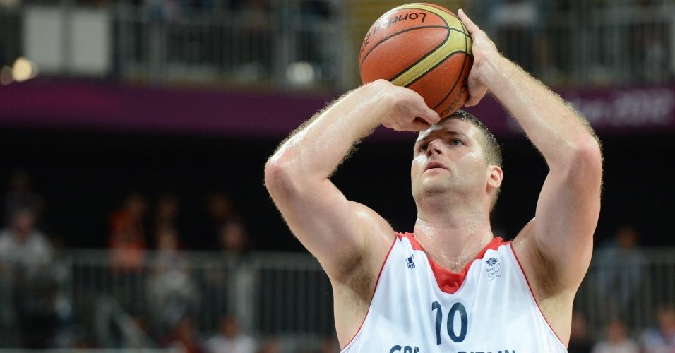 Treinamento de arremesso no basquete