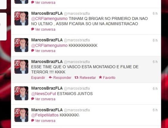 Ex-dirigente do Fla ironiza Dinamite no twitter e diz que time do Vasco é filme de terror