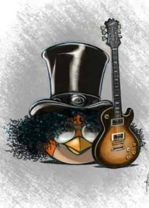 Página de Slash no Facebook traz uma versão do guitarrista no estilo Angry Birds