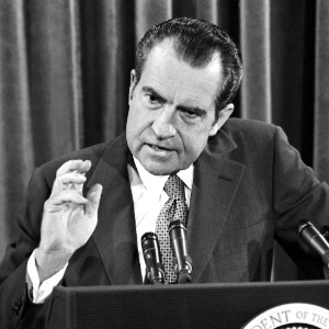 Image result for president nixon speaking to radio broadcasters in 1970