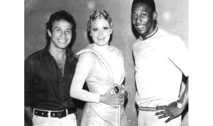 """Com Stênio Garcia e Pelé, em """"Os Estranhos"""""""