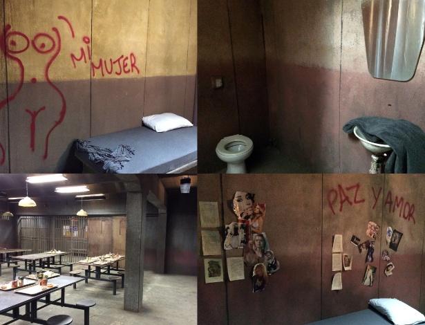 """O presídio de """"Supermax"""" tem 12 celas e uma área comum no térreo e um refeitório e sala de TV no segundo andar"""
