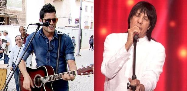 O cantor Fabiano Martins (à esquerda) e seu pai, o sertanejo Marciano