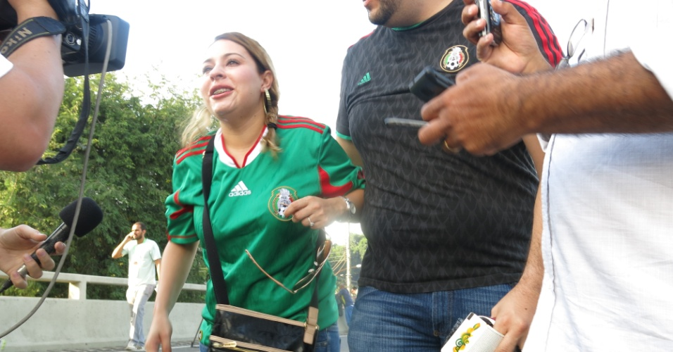Mexican fan hit by tear gas canisters thrown by the police
