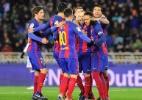 Neymar sofre pênalti e abre o placar para o Barça na Copa do Rei; assista