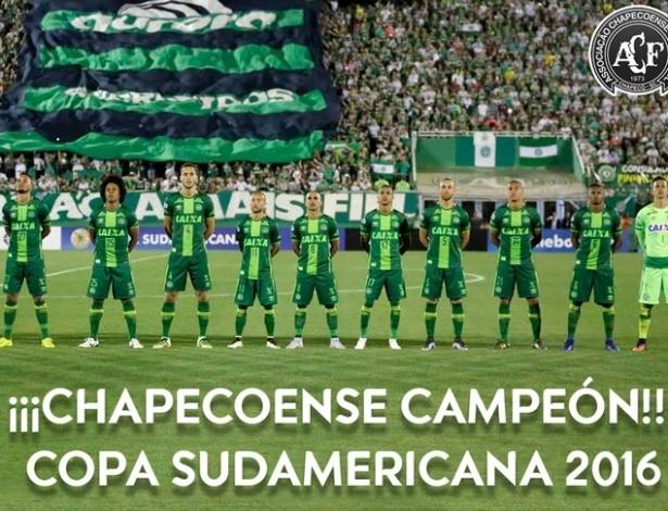 Resultado de imagem para CHAPECOENSE CAMPEAO COPA SUL AMERICANA