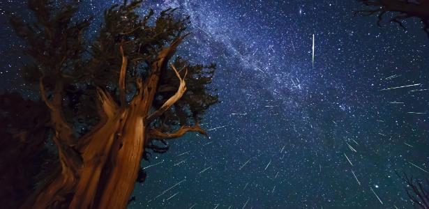 Chuva de meteoros é maior no hemisfério norte, mas também pode ser vista no Brasil