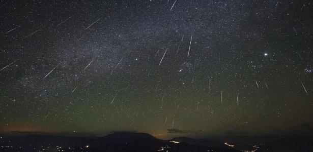 Chuva de meteoros do rastro do cometa Halley poderá ser vista no Brasil