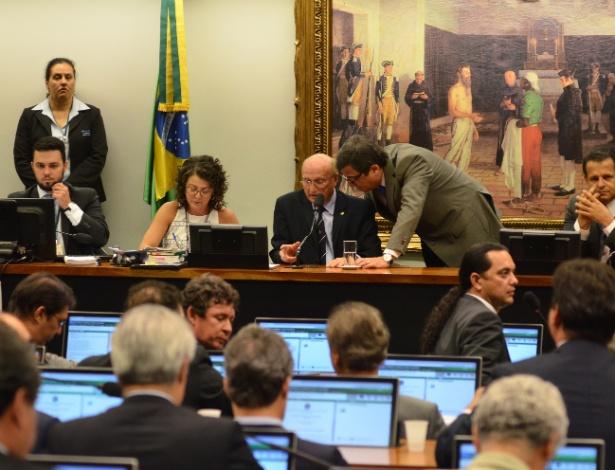 CCJ durante discussão do parecer sobre a admissibilidade da reforma